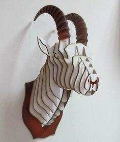 Сapricorn head 3D Puzzle Animal head MDF goat by Dreamlightforyou