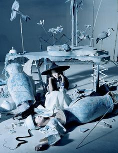 Xiao Wen Ju for Vogue China December 2014 photographed by Tim Walker