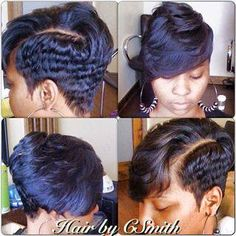 Cute short cut with bang