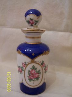 Antique Porcelain Painted Perfume Bottle