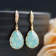 Pacific Opal Swarovski Earrings from www.earringsnation.com