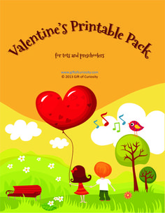 Valentines Printable Pack for Tots and Preschoolers >> Gift of Curiosity