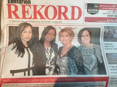 Suzette Marais, Koo Govender, Charlotte du Plessis and Carolyn Steyn making such a huge difference in their community, as part of the Woman of Substance organisation. Charlotte, Community, Woman, Celebrities, Model, Organization, Celebs, Scale Model, Celebrity