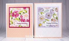 Learn how to make beautiful floral cards like this with this quick and easy card making tutorial! #handmadecards #papercrafts #tutorial Handmade Cards For Friends, Birthday Cards For Friends, Handmade Birthday Cards, Happy Birthday Cards, Diy Birthday, Birthday Gifts, Card Making Ideas For Beginners, Card Making Tips, Card Making Tutorials