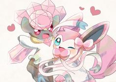 Diancie and Sylveon