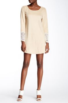 Vegan Suede Long Sleeve Sheath Dress by Trixxi on @nordstrom_rack