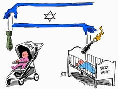 Cartoon of the Day: Terrorism in #Gaza, Terrorism in West Bank. #WasBurnedAlive #Israel