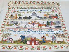 American History Cross Stitch Sampler  by FolkOfTheWoodCrafts, $35.00