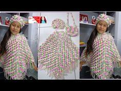 Poncho Hojitas en Relieves PARTE 1 tejido a crochet o ganchillo con indicaciones para cualquier edad - YouTube