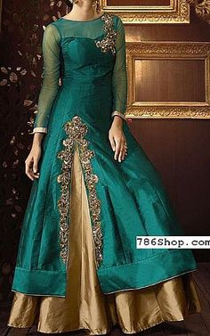 We have Pakistani/Indian Designer clothes online. Formal and Party Pakistani dresses. Buy Designer formal wear and wedding dresses. Designer Anarkali Dresses, Designer Party Wear Dresses, Indian Designer Outfits, Indian Outfits, Silk Kurti Designs, Kurta Designs Women, Pakistani Bridal Dresses, Pakistani Dress Design, Stylish Dresses