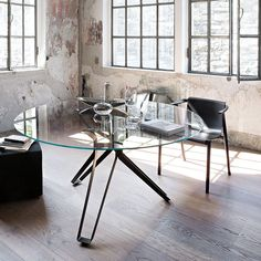 Rogerseller (Richmond) only $3450 (Makes HN a bargin! ;)) Lema 3-Pod Round Glass Dining Table