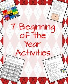 7 Beginning of the Year Activities. These are fun, engaging, collaborative, informative for the whole class to enjoy.