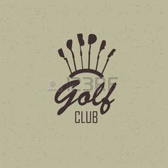 golf club: Simple logo golf. Siluyut clubs for the game Illustration