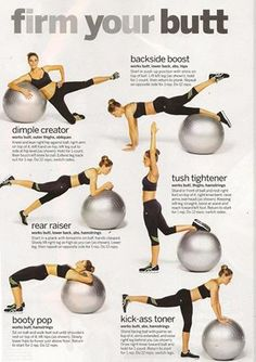 Firming your butt. Learn how to use the Swedish ball to firm your butt in these simple, yet effective exercises.