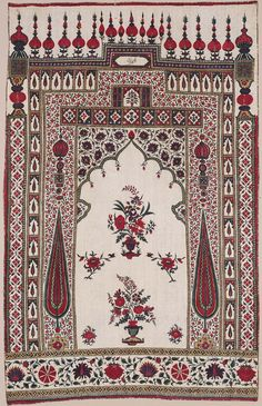 Wall hanging (Kalamkari) or prayer mat | Museum of Fine Arts, Boston