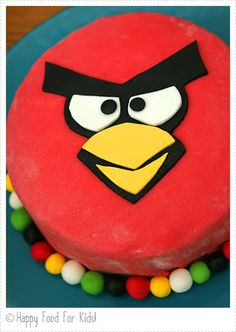 Angry Bird Cake.. perfect for demians upcoming birthday