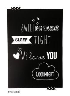 ★VanPauline.nl - Poster Sweet Dreams- bestellen via post@vanpauline.nl