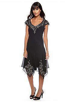 JKARA Flutter-Sleeve Cocktail Dress