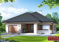 Projekt domu: Selene IV NF40 House Plans Mansion, My House Plans, Roof Design, Exterior Design, Modern Family House, House Design Pictures, Three Bedroom House Plan, Model House Plan, Architectural House Plans