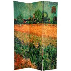 Double Sided Cafe Terrace & View of Arles Canvas Room Divider