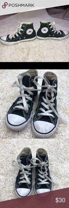 c190eaa1d326 Converse Black High Top Customized Girls Size 13