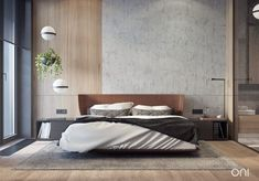 Modern Bedroom Design Inspiration The bedroom is the perfect place at home for relaxation and rejuvenation. While designing and styling your bedroom, Master Suite Bedroom, Rustic Master Bedroom, Home Decor Bedroom, Bedroom Design Inspiration, Modern Bedroom Design, Bedroom Designs, Zeitgenössisches Apartment, Apartment Plants, Suite Principal