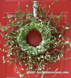THIS is the one I want to make for the front door for spring...  MARCH maybe??