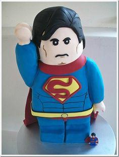 LEGO Superman cake!