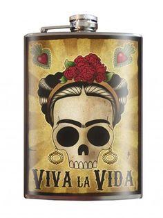 """""""Viva la Vida Frida"""" Flask by Trixie & Milo"""