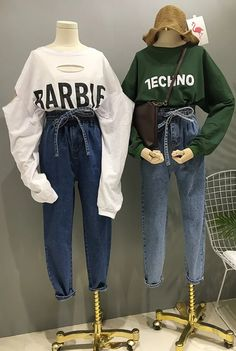 Korean Fashion Jeans And Sweater