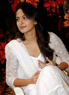 Anushka Shetty Latest Pics In White Dress
