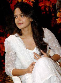 Anushka Shetty Latest Pics In White Dress
