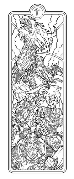 Join my journey to Helheim, where Hel dwells - an ancient scandinavian Goddess of Death. Here are lines for the first Hel incarnation - the Battlemaid. enjoy