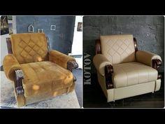 Перетяжка (обивка, ремонт) мягкой мебели на дому своими руками - YouTube