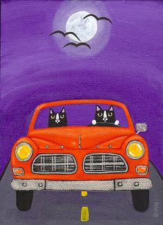 """""""Volvo Under the Full Moon"""" by Ryan Conners   Redbubble"""