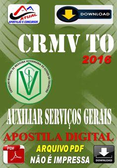 Apostila Digital Concurso CRMV TO Auxiliar de Servicos Gerais 2016