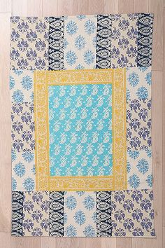 Provencal Block Print RugI want my small space to be AWESOME. I entered the #UrbanOutfitters Pin A Room, Win A Room Sweepstakes! #smallspace