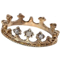Tiara Crown Ring (€11) ❤ liked on Polyvore featuring jewelry, rings, accessories, fillers, crown, women, tiara crown, crown ring, tiara jewelry and crown jewelry