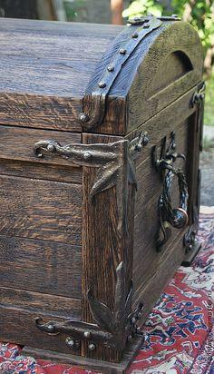 Купить Сундук дубовый с кованой отделкой Царский - сундук, сундук деревянный, сундук под старину