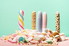 """Inspired by candies the dildo series """"silicone sweets"""" is made of health-harmless silicone and are the result of a cooperation with the Dresden-based dildo manufacturer """"SelfDelve"""".    design: studio kollektiv plus zwei  manufacturer: www.selfdelve-shop.de  image: www.karinhacklphotos.com Dildo, Dresden, Candies, Sweets, Inspired, Studio, Health, Shop, Inspiration"""