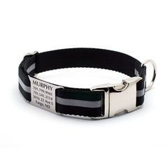 Got this one for Lilybear:  Reflective Dog Collar with BuiltIn Laser Engraved by LaserPets, $31.99