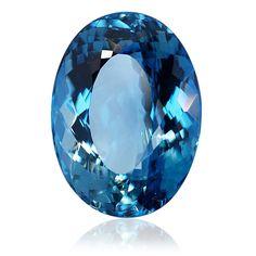 Blue Topaz 85,58ct  85,58ct Topas blau oval facettiert
