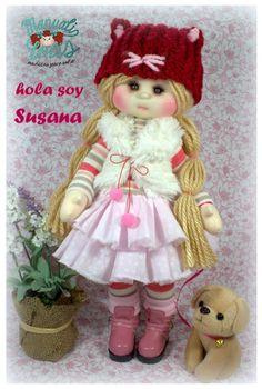 Teddy Bear, Dolls, Christmas Ornaments, Holiday Decor, Crochet, Pretty, Handmade Rag Dolls, Fabric Dolls, Drop Cloths