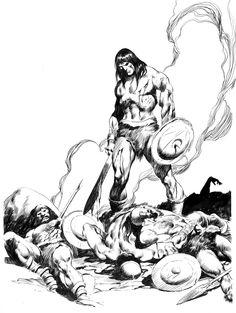 Marvel Comics of the 1980s: 1980 - John Buscema's Conan portfolio