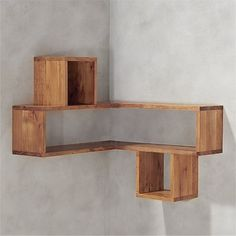 Finding Woodworking Patterns for All Your DIY Projects – The Woodworking Shop Corner Shelf Design, Corner Shelves, Wall Shelves Design, Unique Wall Shelves, Wall Design, Cb2 Furniture, Wood Storage Shelves, Wooden Wall Shelves, Shelving Units