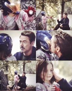 Define lunch or be disintegrated Shes such a Stark-----Proud of her iron daddy look at her shes so happy with tony she deserved more of these moments with her fathertheir love is so pureGive her daddy back we want tony stark back! Marvel Avengers, Marvel Comics, Marvel Actors, Marvel Heroes, Marvel Characters, Sylvia Day, Tony Stark, Cassandra Clare, X Men