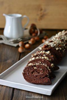 Rotolo al cacao e nocciole