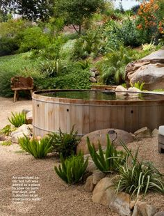 Above Ground Pool Designs Above Ground Swimming Pool Landscaping Ideas With Wooden Deck Above Ground Pool, In Ground Pools, Sunken Fire Pits, Sunken Hot Tub, Stock Tank Pool, Outdoor Living, Outdoor Decor, Outdoor Fire, Outdoor Ideas