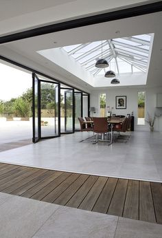 √ 35 impressive Sundeck designs: ideas and bil - conservatory ideas - wi . - √ 35 impressive Sundeck designs: ideas and bil – conservatory ideas – conservatory ideas – - Skylight Design, House Extension Design, Glass Extension, Rear Extension, Terrasse Design, Open Plan Kitchen Living Room, Kitchen Doors, Kitchen Tiles, Sunroom Decorating