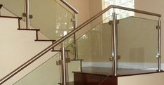 Stainless Steel Stair Parts - Modern Stair Railing Store Stair Banister Kits, Stair Kits, Modern Stair Railing, Stairs And Staircase, Modern Stairs, Staircase Design, Handrail Parts, Glass Handrail, Steel Handrail
